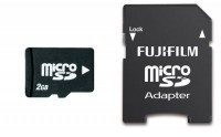 Fuji 2GB Micro SD Memory Card Plus SD Adapter £3.48